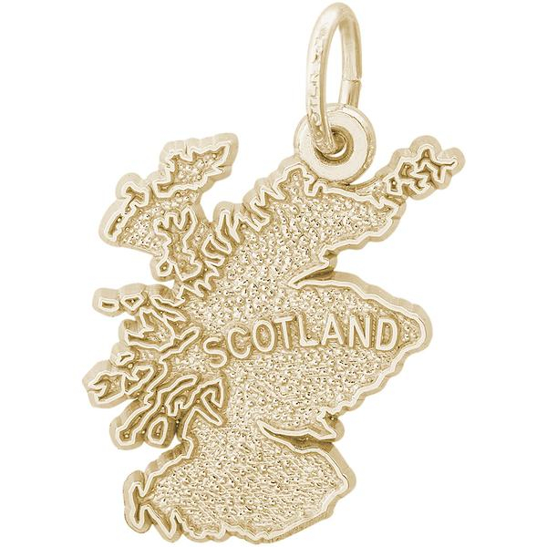 Charms - Scotland Map Charm or Pendant in Gold or Silver - image #2