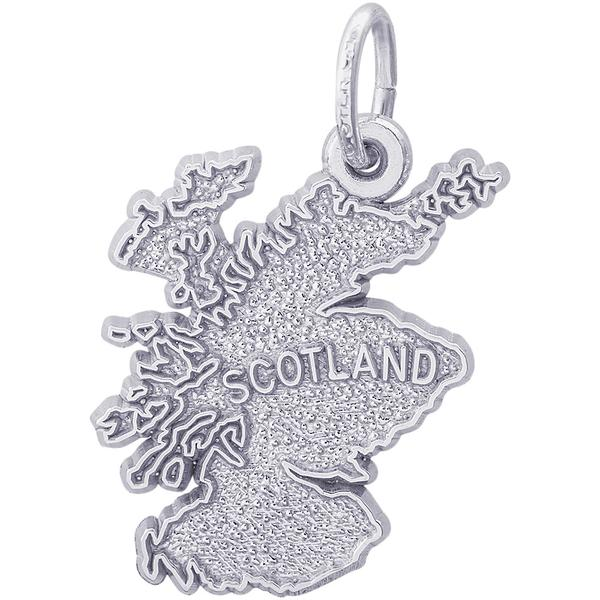 Charms - Scotland Map Charm or Pendant in Gold or Silver