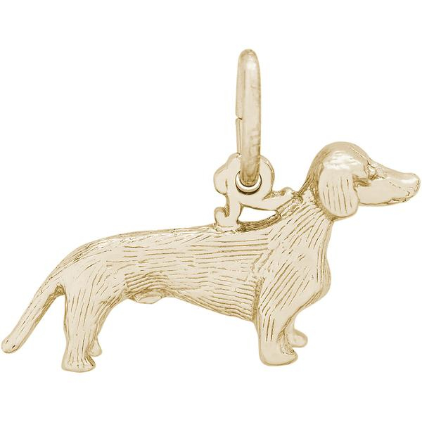 Charms - Dachshund Dog Charm in Gold or Silver - image #2