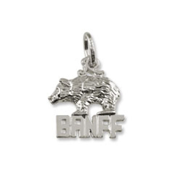 Charms - Banff Natiional Park Bear Charm or Pendant in Gold or Silver - image #2