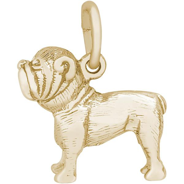 Charms - Bulldog Charm or Pendant in Silver or Gold - image #2