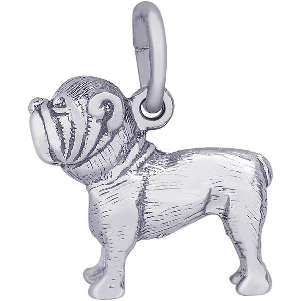 Charms - Bulldog Charm or Pendant in Silver or Gold