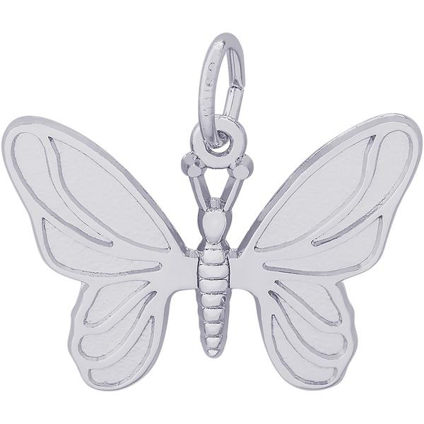 Charms - Butterfly Charm or Pendant in Gold or Silver - image #2