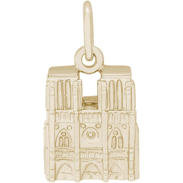 Charms - Notre Dame Charm or Pendant in Gold or Silver - image #2