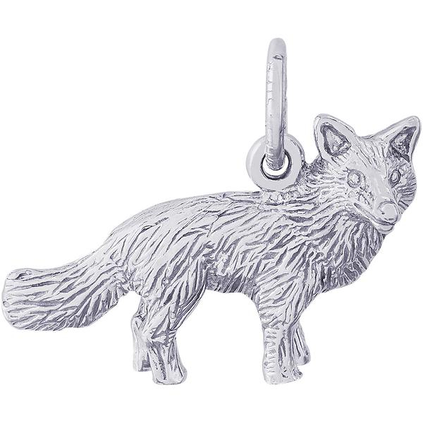 Charms - Fox Charm or Pendant in Gold or Silver - image #2
