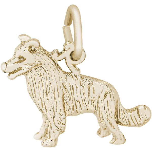 Charms - Boarder Collie Dog Charm in Gold or Silver