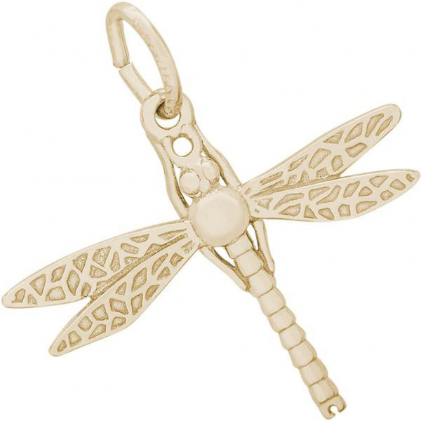 Charms - Dragonfly Charm or Pendant in Gold or Silver - image #2
