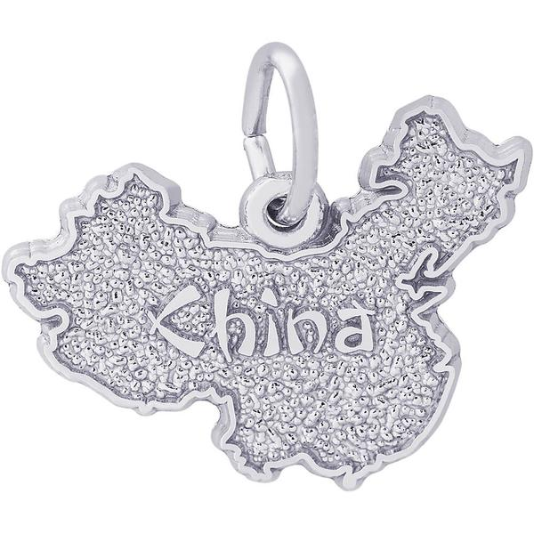World Travel - China Map Charm or Pendant in Gold or Silver