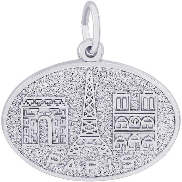 Charms - Paris Monuments Charm or Pendant in Gold or Silver