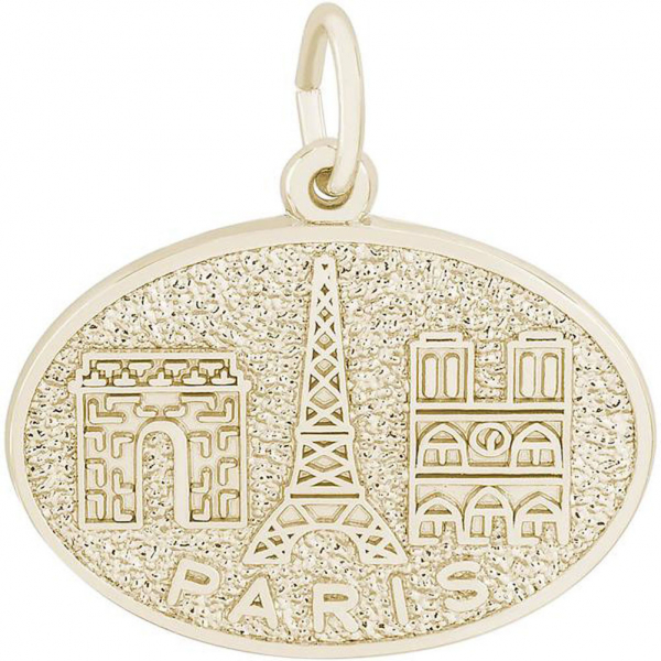 Charms - Paris Monuments Charm or Pendant in Gold or Silver - image 2