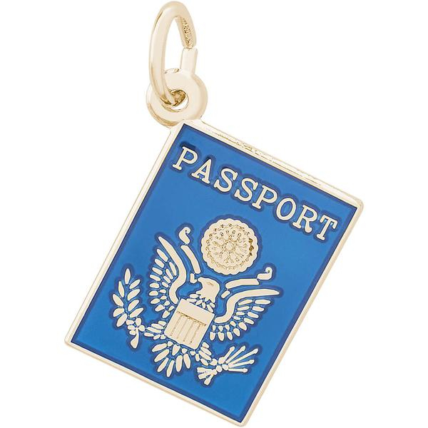 Charms - United States US Passport Charm or Pendant - image #2