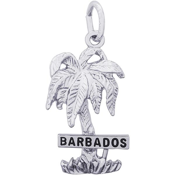 Charms - Barbados Palm Tree Charm or Pendant in Gold or Silver