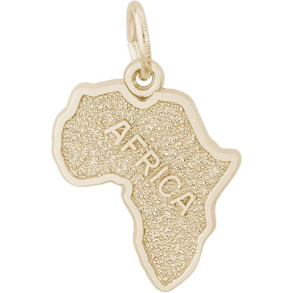 Charms - Africa Map Charm or Pendant in Gold or Silver - image #2
