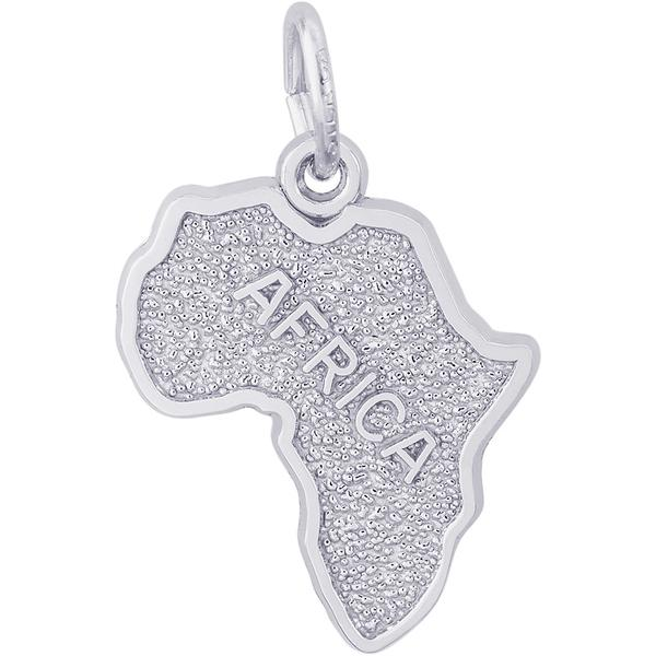 Charms - Africa Map Charm or Pendant in Gold or Silver