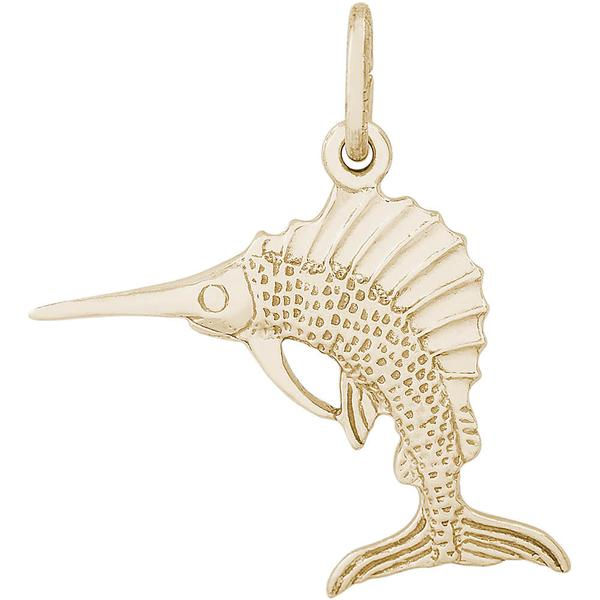 Charms - Sailfish Charm or Prndant in Gold or Silver - image #2