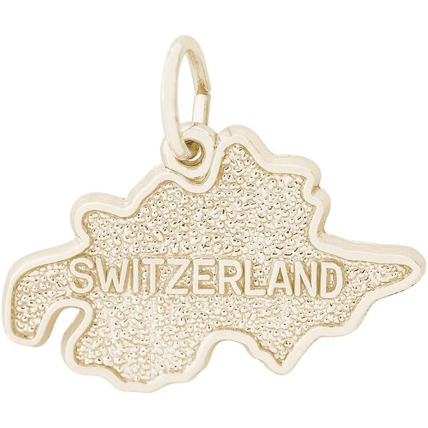 Charms - Switzerland Map Charm or Pendant in Gold or Silver