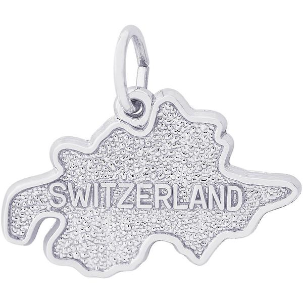 Charms - Switzerland Map Charm or Pendant in Gold or Silver - image #2