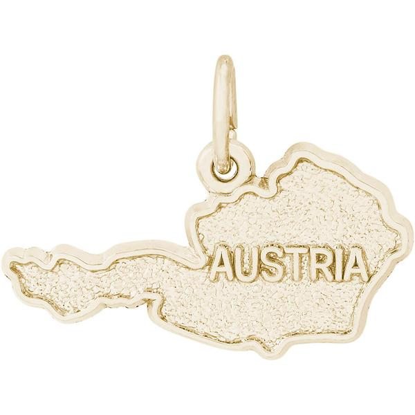 Charms - Austria Map Charm or Pendant in Gold or Silver - image #2