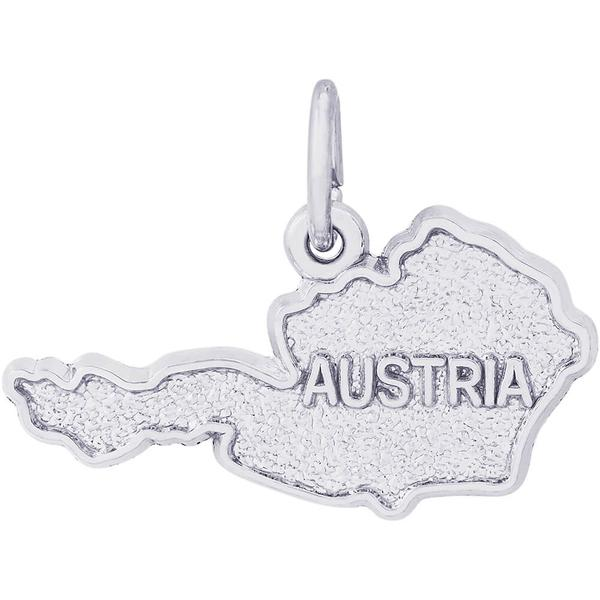 Charms - Austria Map Charm or Pendant in Gold or Silver