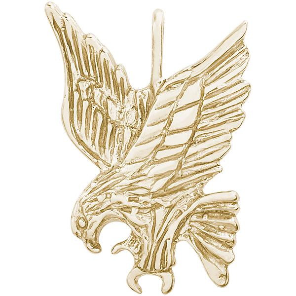 Charms - Eagle Pendant or Charm in Gold or Silver