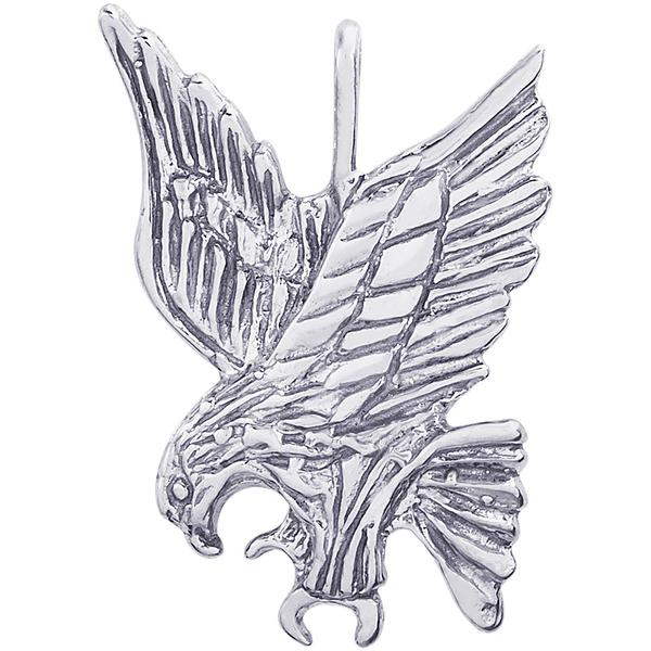 Charms - Eagle Pendant or Charm in Gold or Silver - image #2