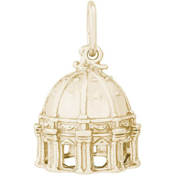 World Travel - St. Peter's Basilica Cupola Charm or Pendant in Gold or Silver - image #2