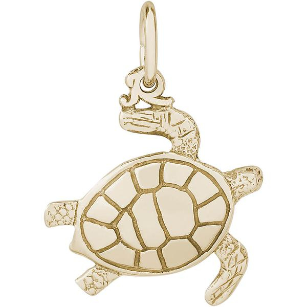 Charms - Sea Turtle Charm or Pendant in Gold or Silver - image #2