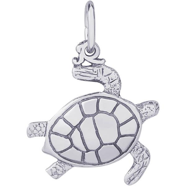 Charms - Sea Turtle Charm or Pendant in Gold or Silver