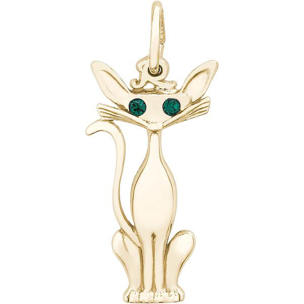 Charms - Siamese Cat Charm or Pendant in Gold or Silver - image #2