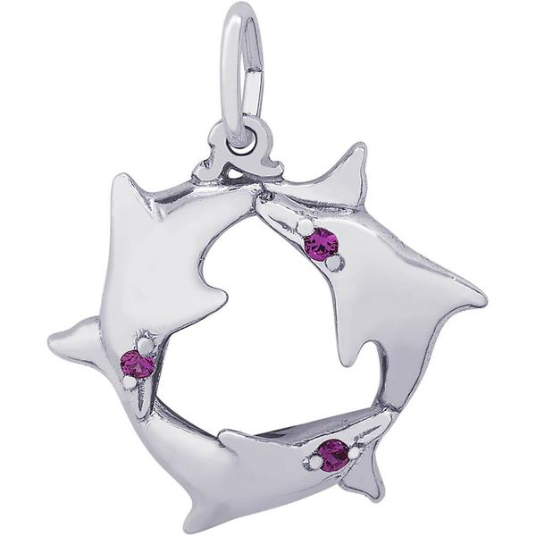 Charms - Dolphin Trio Ring Charm in Silver or Gold