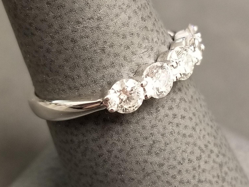Vintage and Estate - 14kw Diamond Band - image #2