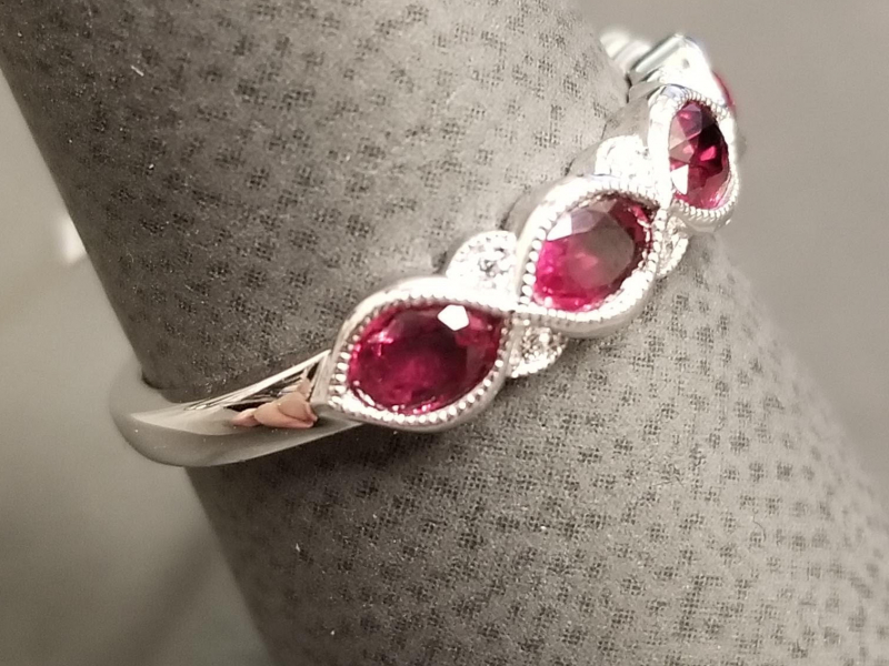 Latest Styles - 14kw Ruby and Diamond Band - image #2