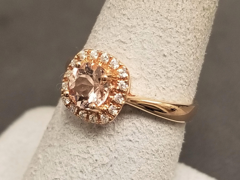Latest Styles - 14kr Morganite Pendant and Ring Set - image #2