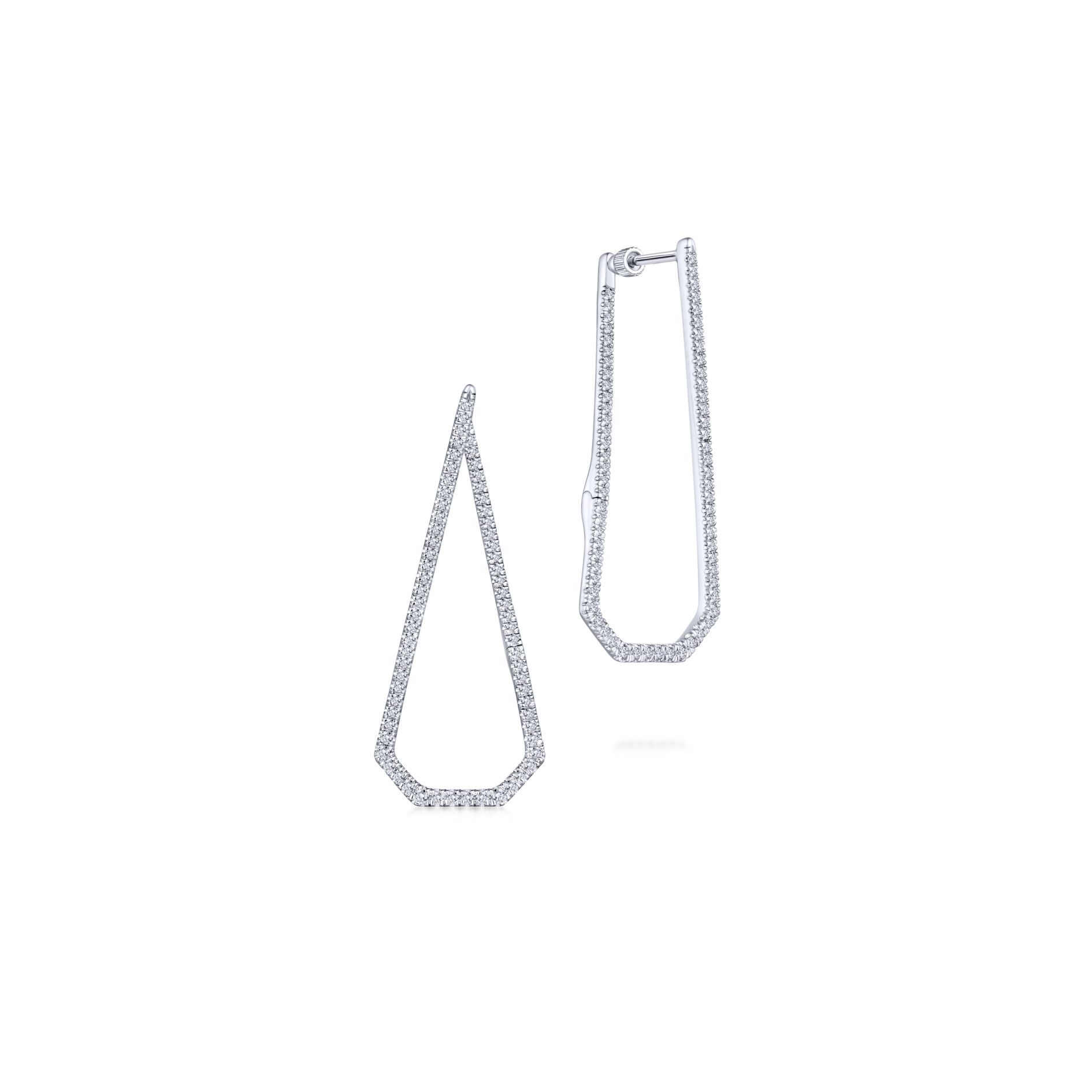 Earrings - INTRICARTE DIAMOND HOOP EARRINGS