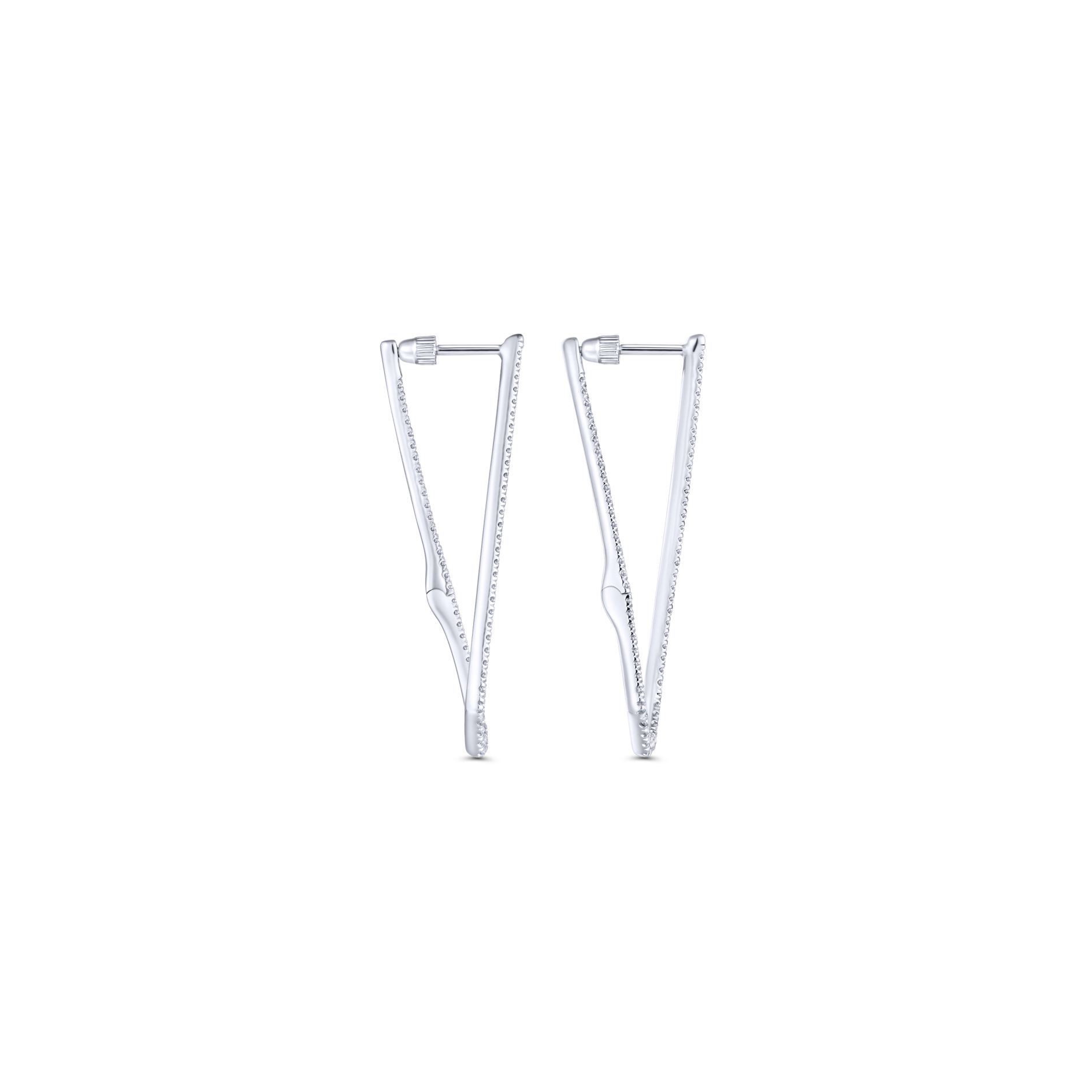 Earrings - INTRICARTE DIAMOND HOOP EARRINGS - image #2