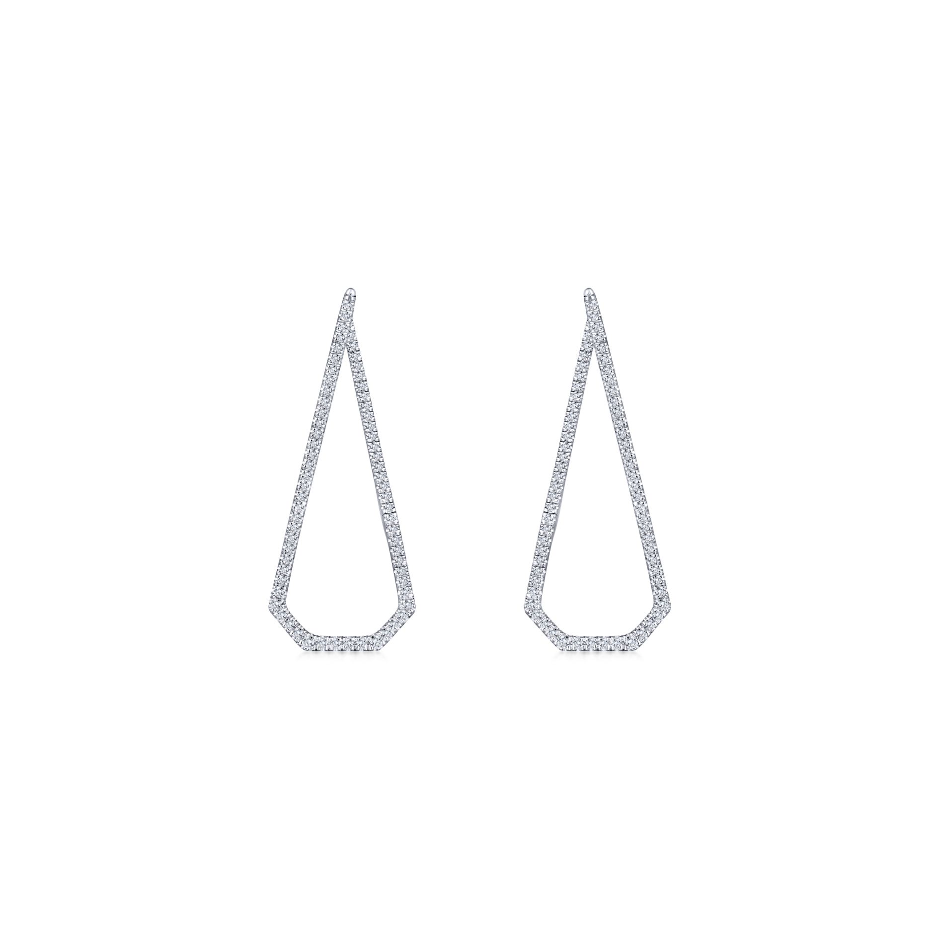 Earrings - INTRICARTE DIAMOND HOOP EARRINGS - image #3