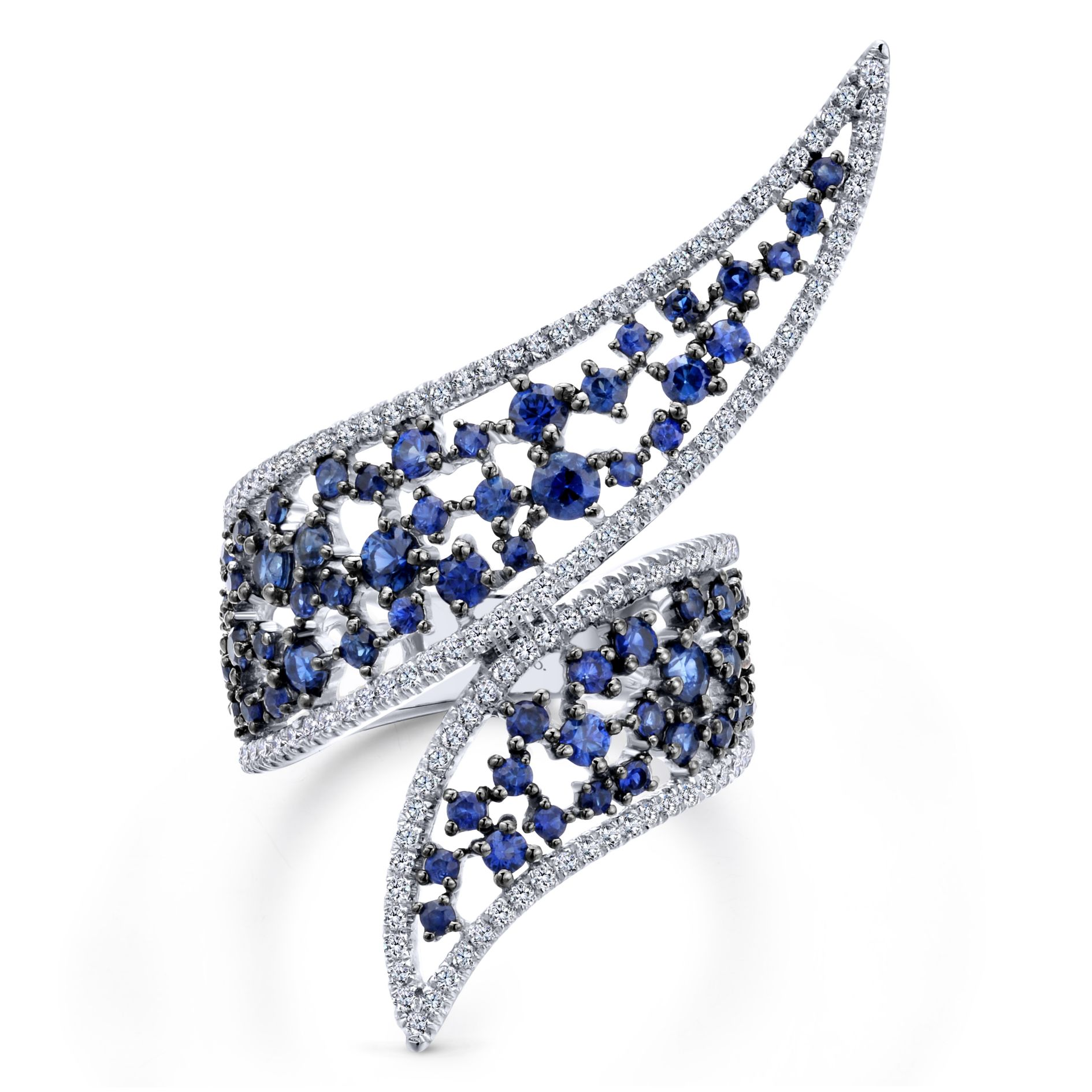 Rings - DIAMOND AND SAPPHIRE LADIES RING