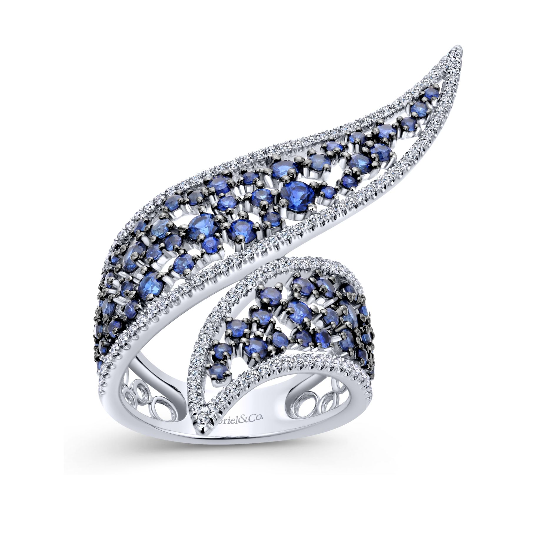 Rings - DIAMOND AND SAPPHIRE LADIES RING - image #4