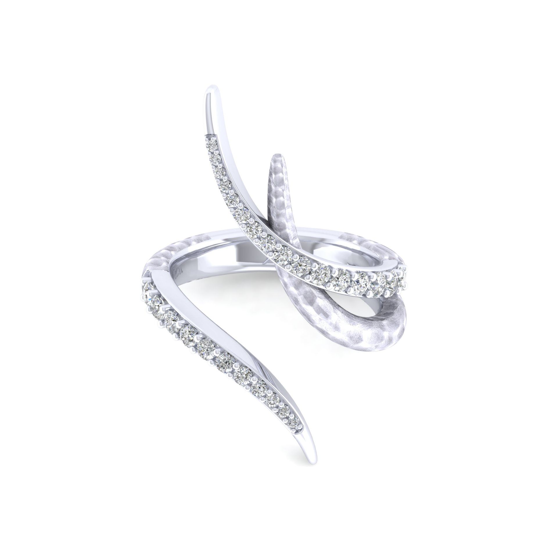 Rings - SILVER FASHION WHITE SAPPHIRE LADIES RING
