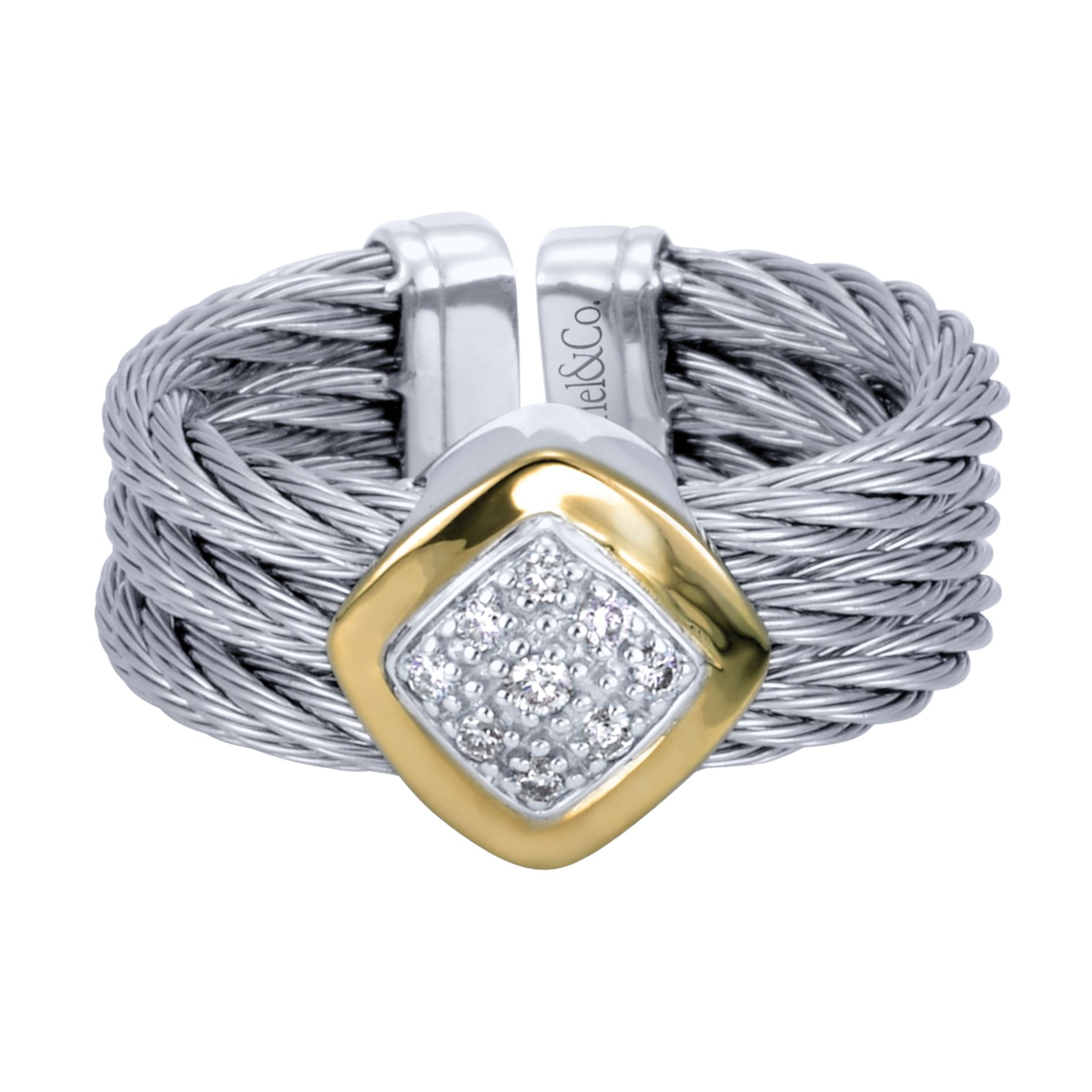 Rings - TWISTED CABLE DIAMOND LADIES RING