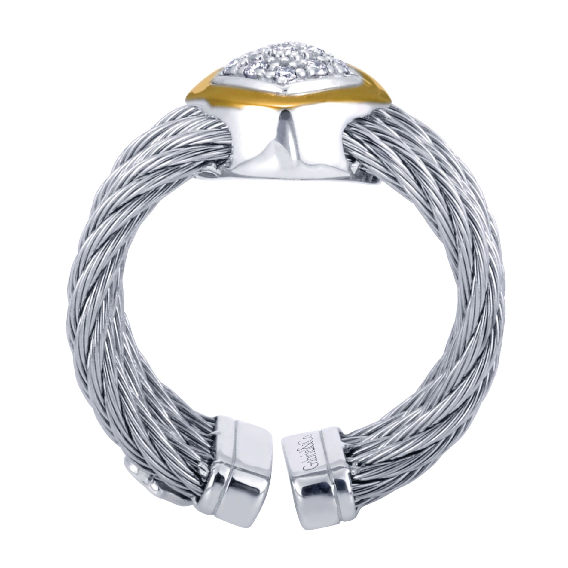 Rings - TWISTED CABLE DIAMOND LADIES RING - image #2