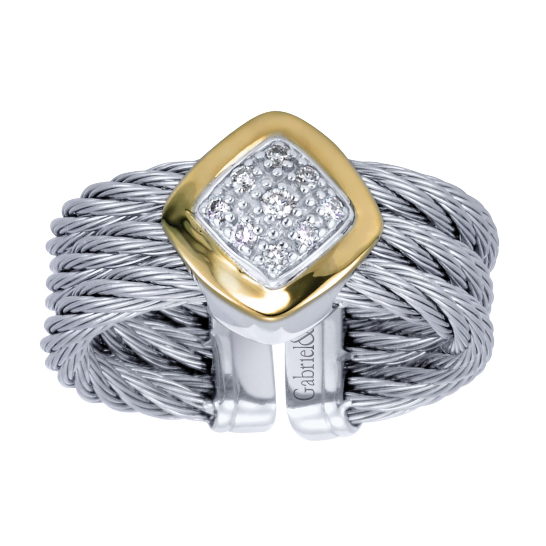 Rings - TWISTED CABLE DIAMOND LADIES RING - image #4