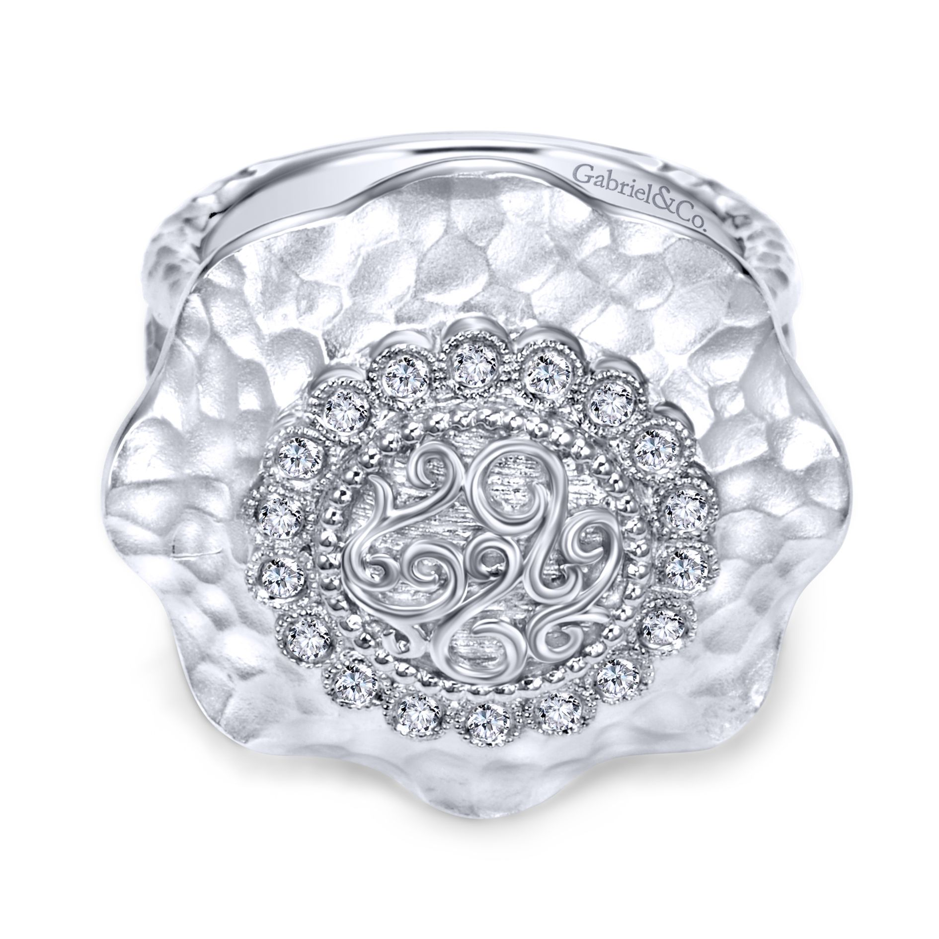 Rings - SILVER FASHION DIAMOND LADIES RING