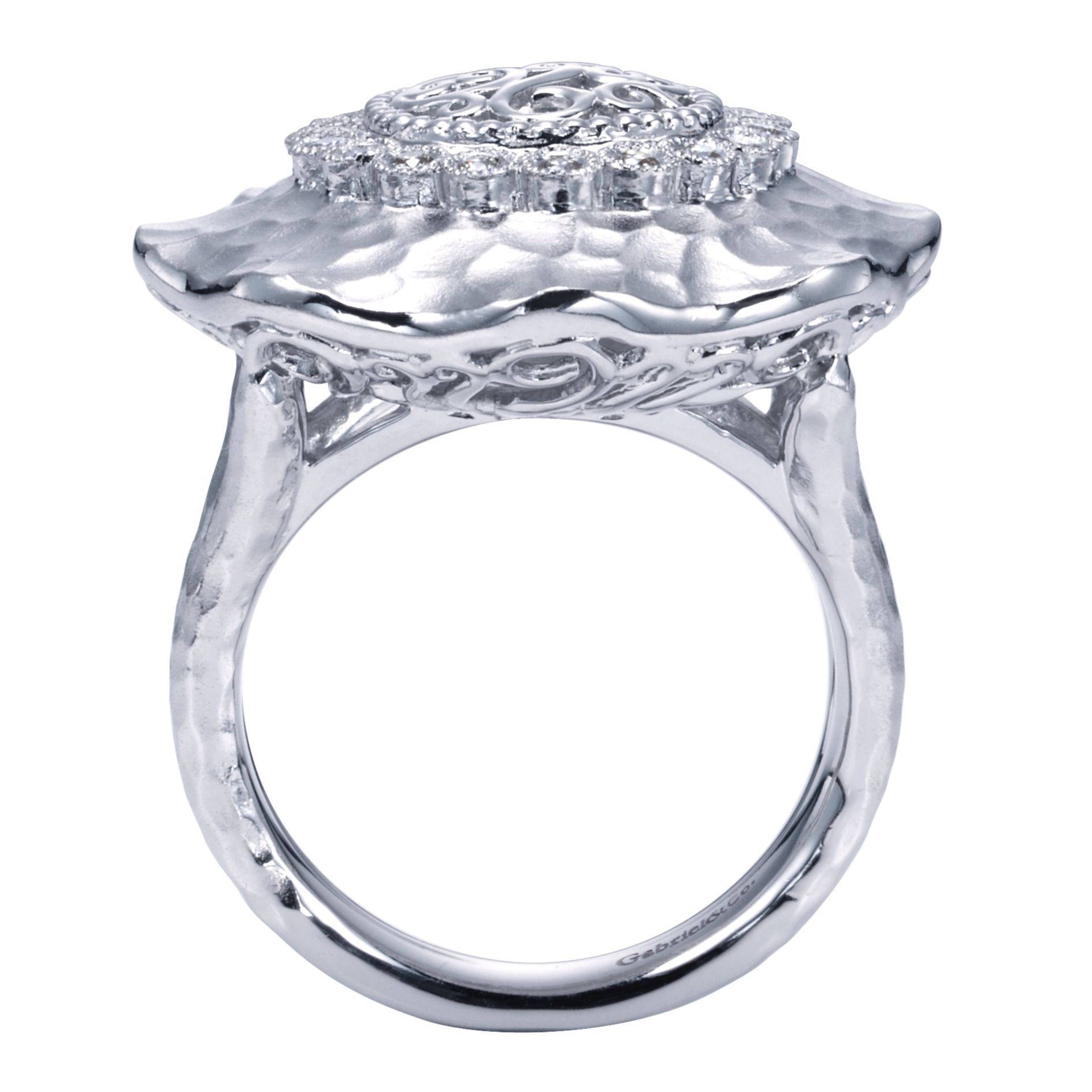 Rings - SILVER FASHION DIAMOND LADIES RING - image #2