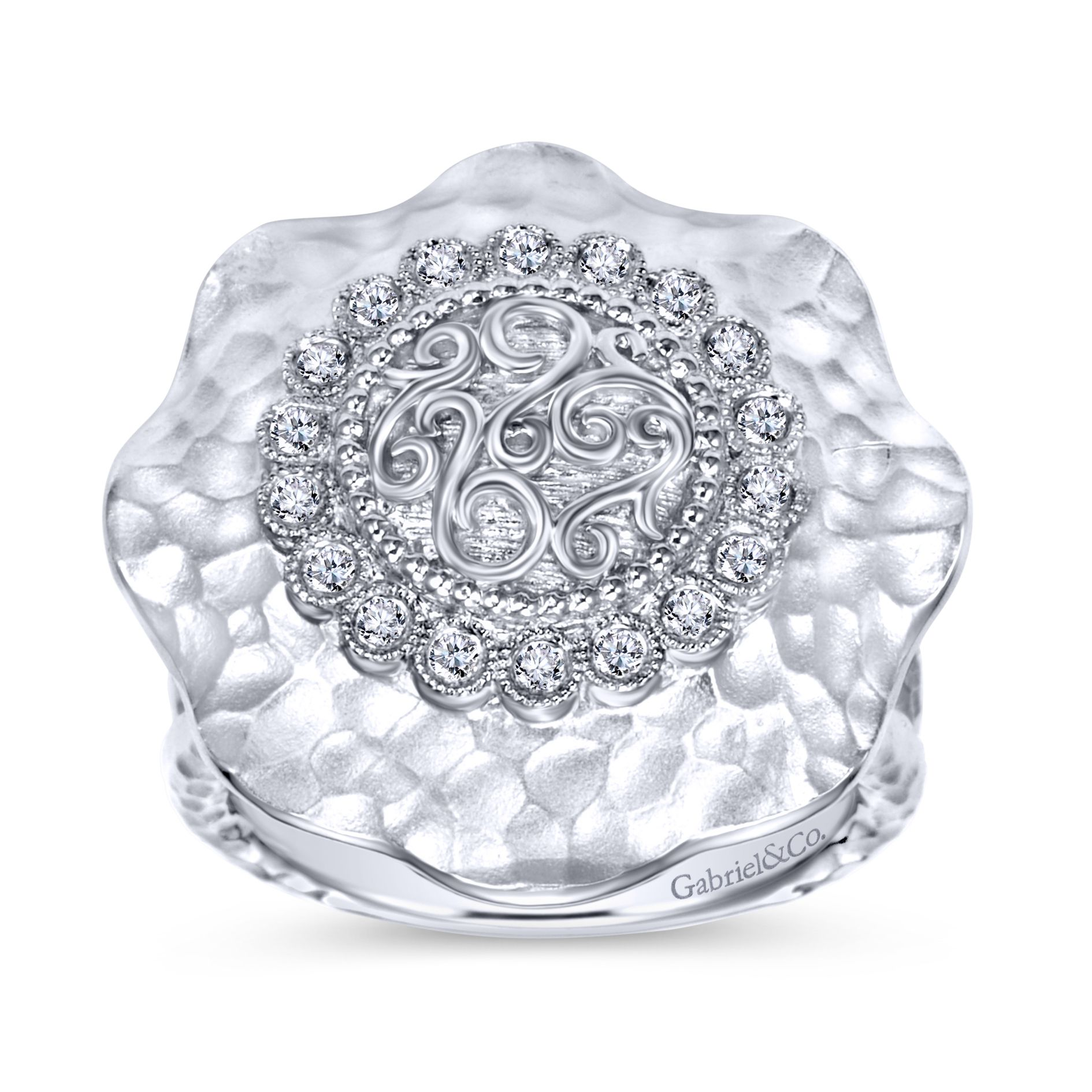 Rings - SILVER FASHION DIAMOND LADIES RING - image #4