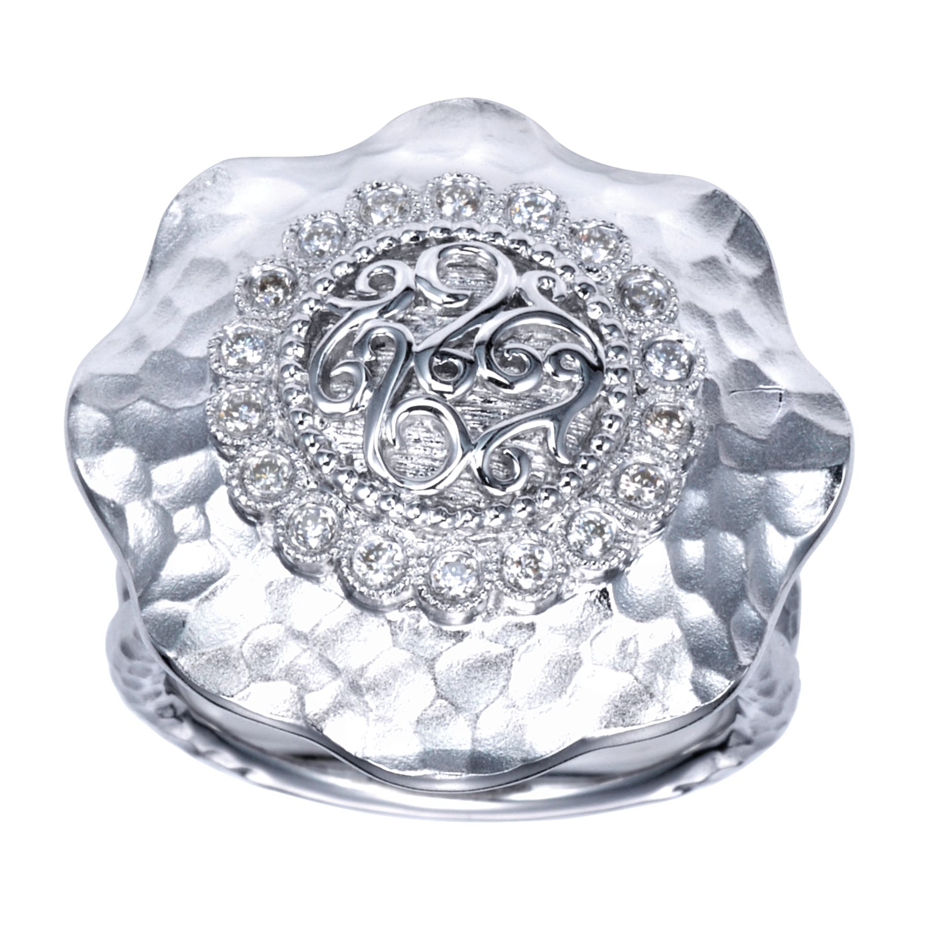 Rings - SILVER FASHION DIAMOND LADIES RING - image #5