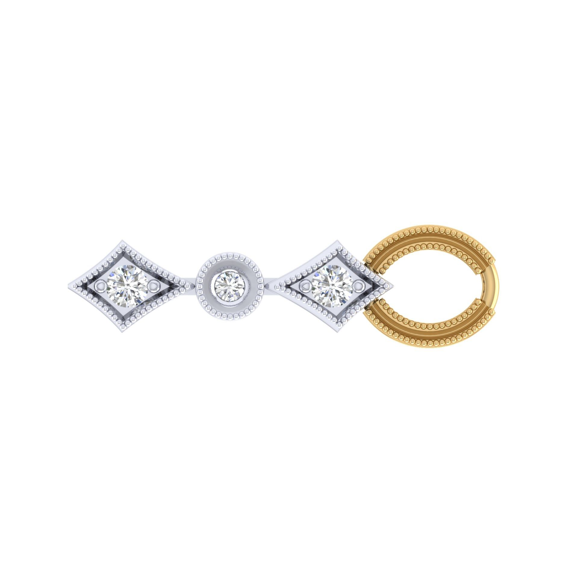 Bracelets - YELLOW/WHITE GOLD TENNIS DIAMOND BRACELET - image #2