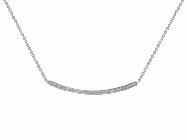 Sterling Silver Jewelry - Sterling Silver Curved Bar Necklace