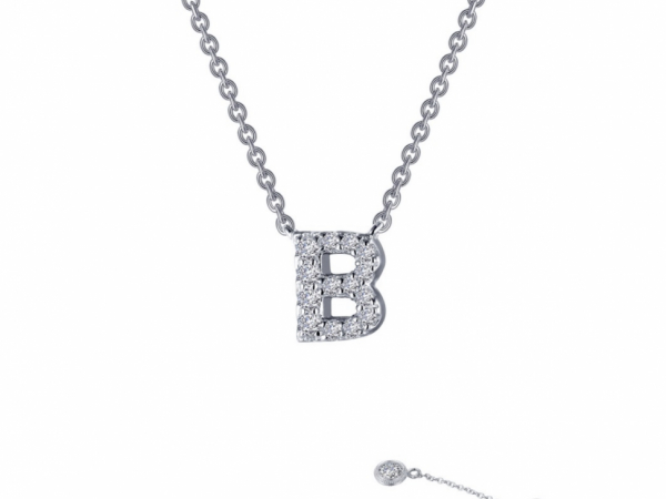 Sterling Silver Jewelry - Sterling Silver Initial Necklace