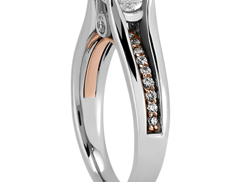engagement rings promise rings proposal wedding diamond halo ring yellow white rose gold custom made custom design - image #2